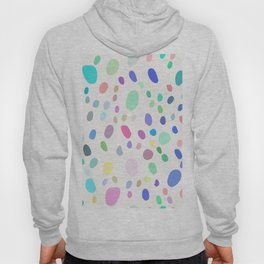 Abstract Colorful Random Dots Hoody