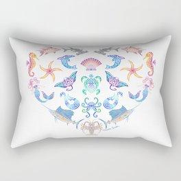 Ocean Treasures on White Rectangular Pillow