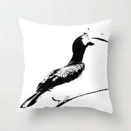 Oriental Pied Hornbill Throw Pillow