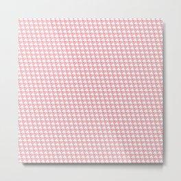 Splattered Heart Pattern Metal Print