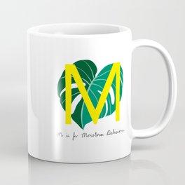 M is for Monstera Deliciosa Coffee Mug