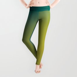 Earthy Peacock Gradient Leggings