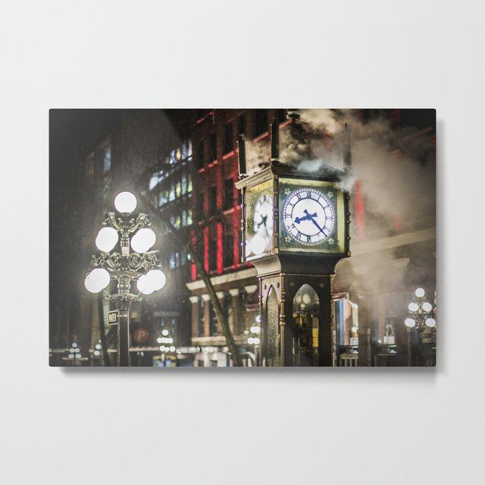 Steam Clock  Metal Print