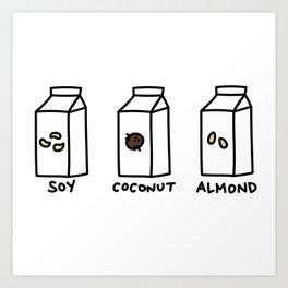 Soy Coconut Almond Art Print