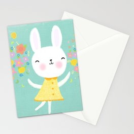 Dancing Garden Bunny Stationery Cards