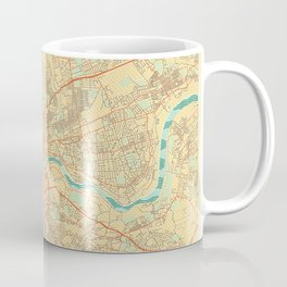 Newcastle upon Tyne Map Retro Coffee Mug