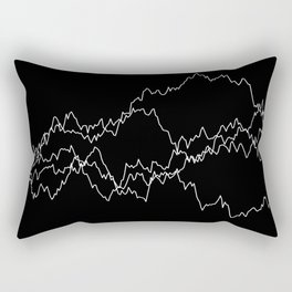 5 paths of discrete Brownian motion - black and white Rectangular Pillow