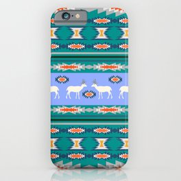 Decorative Christmas pattern with deer II iPhone Case