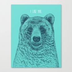I Like You (Bear) Canvas Print