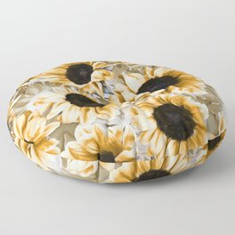 Dreamy Autumn Sunflowers Floor Pillow