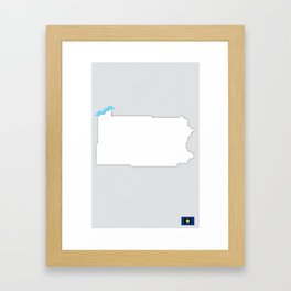 Pennsylvania Pixels Framed Art Print