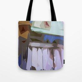 St. Maarten Color Block Fence  Tote Bag