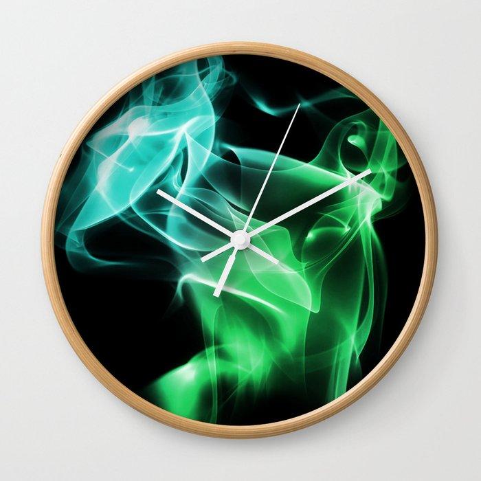 Smoke Green & blue Wall Clock