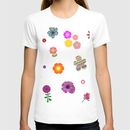 Spring Pattern of Colorful Flowers T-shirt