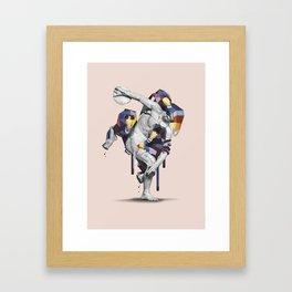 Apes Statue Framed Art Print