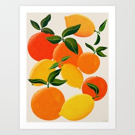 Oranges and Lemons Art Print