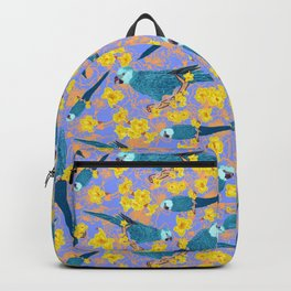 Spix Macaw Flower Power Backpack