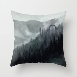 Sacred Mountain Throw Pillow