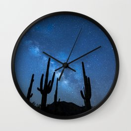 Milky Way, Dreams and Succulents Wall Clock
