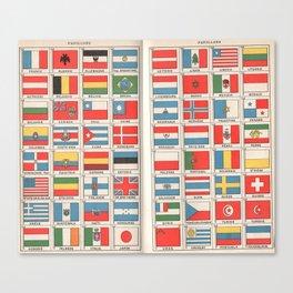 Vintage flags 1935 Canvas Print