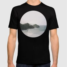 Ocean SMALL Black Mens Fitted Tee