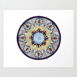 Peacock Web Art Print
