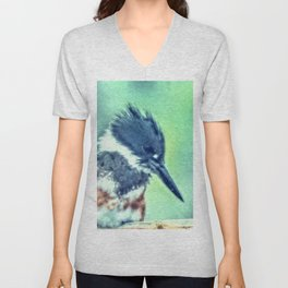 A Lady's Contemplation Unisex V-Neck