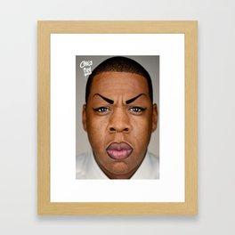 jay-z aka chola hova - kim k sit yo @ss down Framed Art Print