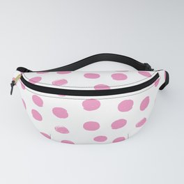 Pink Round Brush Strokes Pattern Fanny Pack