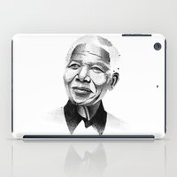 mandela iPad Cases featuring Nelson Mandela by Marttala