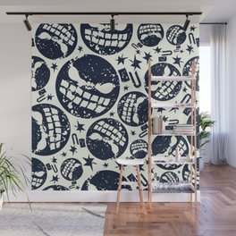 Happy halloween  bomb pattern Wall Mural