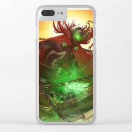 Sunset Spawn Clear iPhone Case