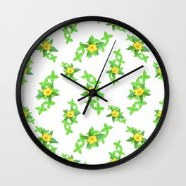 Airy Floral Pattern Wall Clock