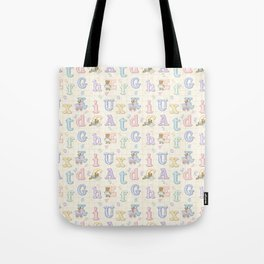 Teddy Bear Alphabet ABC's Tote Bag