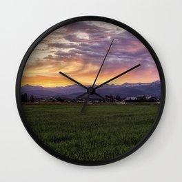 Mountain Sunrise - Teton Valley, Idaho Wall Clock