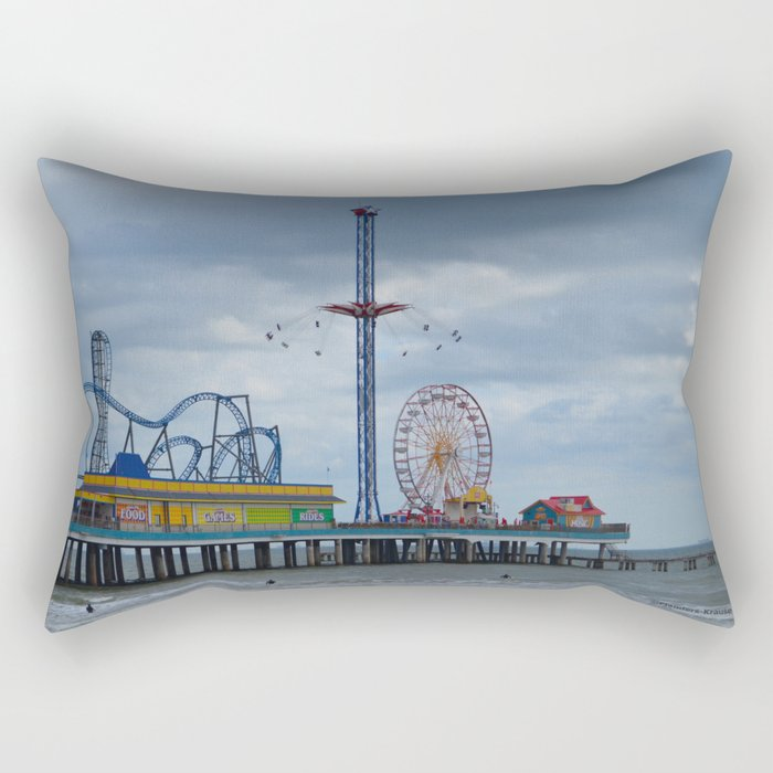 Pleasure Pier - Galveston Texas Rectangular Pillow