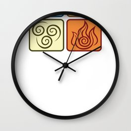 Louies Avatar Symbols Wall Clock