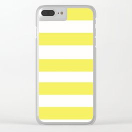 Yellow What Clear iPhone Case