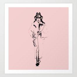 Music in Pink Art Print