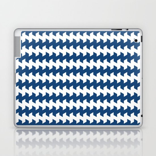 jaggered and staggered in monaco blue Laptop & iPad Skin