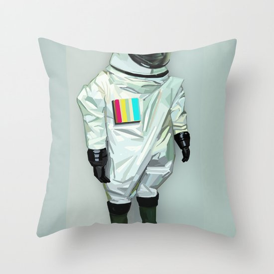 Mr CMYK Throw Pillow