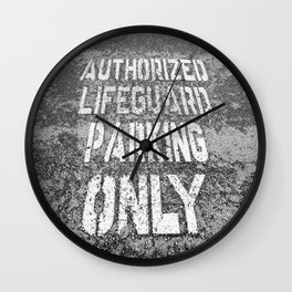 Parking for Life Wall Clock