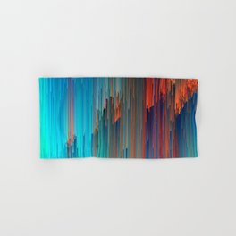 All About Us - Abstract Glitch Pixel Art Hand & Bath Towel