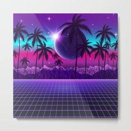Twilight Retrowave Metal Print