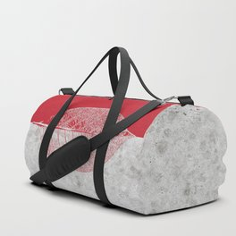 Natural Outlines - Leaf Red & Concrete #635 Duffle Bag