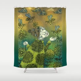 The Beekeeper Shower Curtain