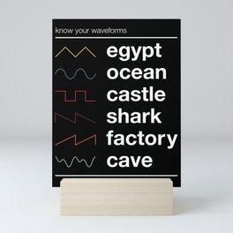 Know your Waveforms Mini Art Print