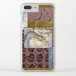 textures and doodles 1 Clear iPhone Case