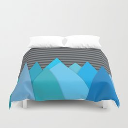 Blue Attack Duvet Cover