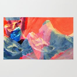 Abstract Mt. Everest Rug
